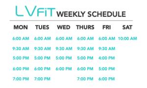 lvfit gym schedule